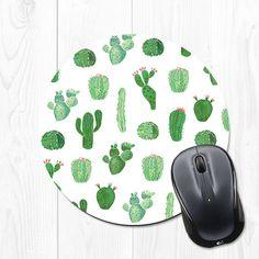 Mousepad Mouse pad Succulent Cactus Mouse Pad Cubicle by fieldtrip Desk Redo, Diy Desk, Pad Mouse, Decoration Cactus, Cute Office Supplies, School Supplies, My Workspace, Diy Décoration, Pink