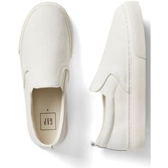Gap Women Denim Slip On Sneakers ($45) ❤ liked on Polyvore featuring shoes, sneakers, slip on shoes, elastic shoes, pull-on sneakers, slip on sneakers and gap sneakers