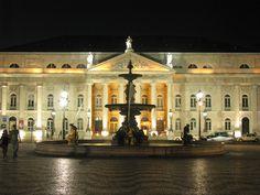 Teatro Nacional D. Maria I - Rossio Costa, Portugal, Mansions, House Styles, Home Decor, Lisbon, Theater, Architecture, Decoration Home