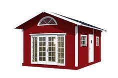 Attefallshus Jack är möjligheternas stuga för dig som vill ha ett rymligt fritidsboende. Det är gott om plats för både sängplatser, storstuga, matplats och badrum. Tiny Living, Tiny House, Loft, Shed, Outdoor Structures, Villa, Garden, Inspiration, Tips