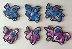 Pokemon Gen 1 29-34: Nidoran Nidorina Nidoqueen by PixelPrecious