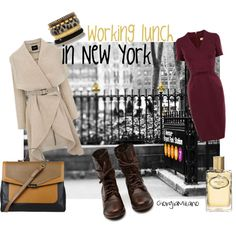 """""""New York working lunch"""" by furettina on Polyvore"""
