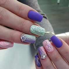 30 Nail Art Designs Ideas That You Will Love Nails Summer Nails Nail Art Designs Ideas Nail art designs Nail art acrylic nails Purple Manicure, Short Nail Manicure, Moon Manicure, Gel Polish Manicure, Gorgeous Nails, Pretty Nails, Acrylic Nail Designs, Nail Art Designs, Acrylic Nails