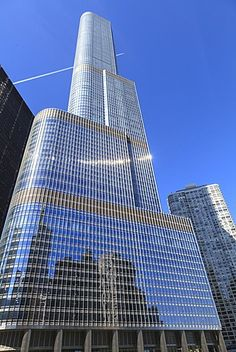 Trump Tower, Chicago's second tallest building, Chicago, Illinois, United States of America, North America