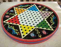 I remember this, my Parents, brother and I played this Vintage Chinese Checkers Game Board Metal Chinese Checkers Round Tin circa 1960 Vintage Fisher Price, Vintage Toys 1960s, Retro Toys, 1950s Toys, My Childhood Memories, Childhood Toys, Sweet Memories, Vintage My Little Pony, Vintage Tupperware