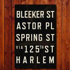 Custom Subway Art  Personalized Typography by GoingUnderground, $40.00