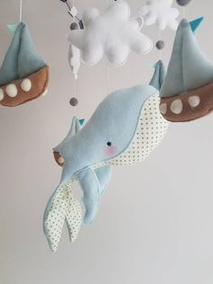 Dit item is niet beschikbaar Whale Among The Sails Baby Mobile Cot Crib Mobile Boat Sewing Toys, Sewing Crafts, Sewing Projects, Baby Crafts, Felt Crafts, Baby Crib Mobile, Baby Mobiles, Whale Mobile, Girl Cribs
