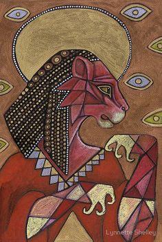 The Goddess Sekhmet painting.