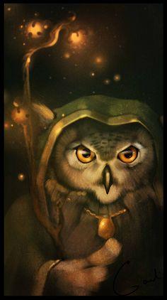 Magical Owl / Gufo Magico - Art by Alexandra Khitrova (GaudiBuendia on deviantART)