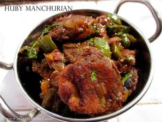 Huby Manchurian Indie, Stuffed Mushrooms, Vegetarian, Beef, Dishes, Button, Ethnic Recipes, Plate, Ox