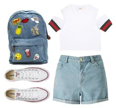 """""""Casual"""" by chap15906248 ❤ liked on Polyvore featuring Gucci, Miss Selfridge and Converse"""