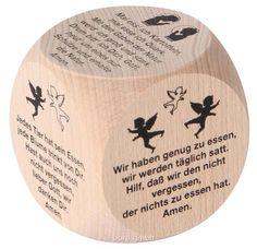 Bartl, Gebetswürfel Tischgebete,Erleichtert die Wahl des täglichen Tischgebets. Aus Holz   100376 / EAN:4032821002624
