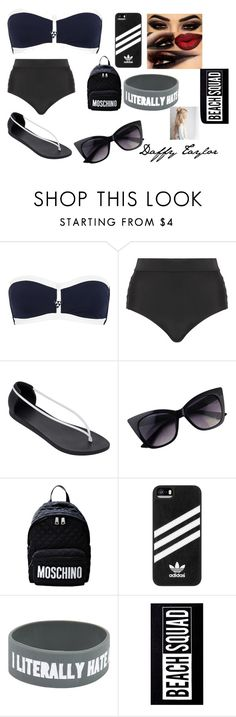 """""""Daffy Taylor Beach 1"""" by kokochan123 on Polyvore featuring Seafolly, Cactus, IPANEMA, Moschino, adidas and New Look"""