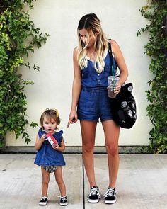 """3,885 Likes, 81 Comments - Krista Horton (@krista.horton) on Instagram: """"Taking a picture with a toddler is as easy as it looks. #mommyfinger + #crazyeyes // denim romper +…"""""""
