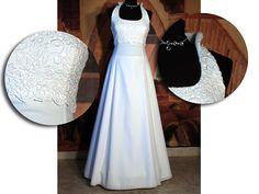 Svatební šaty za krk