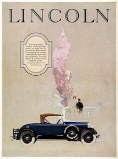 Lincoln Ad (1926): Sport Roadster by Locke - Illustrated by Fred Cole