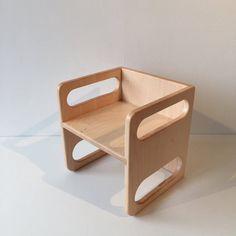 Ella Adams Montessori Cube Chair. Cube ChairWooden HandChildren ...