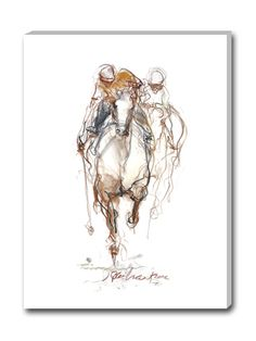 Horse art canvas giclee prints by Jeaneen Barnhart from ArtXP. Horse Drawings, Animal Drawings, Polo Horse, Sports Graphic Design, Watercolor Horse, All The Pretty Horses, Equine Art, Pastel Art, Horse Art