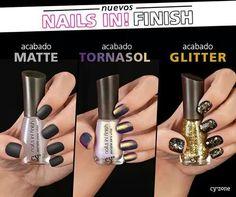 Nuevos nails in! Finish Cambia el look a tu esmalte!