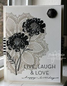 Field Flowers over Hello Doily by Studio M - Cards and Paper Crafts at Splitcoaststampers
