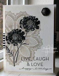 Doily n flowers