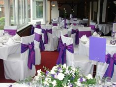 Purple/Lilac Wedding Chair Covers