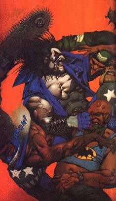 Lobo (New Earth) Art by Simon Bisley Simon Bisley, Comic Book Artists, Comic Artist, Comic Books Art, Marvel Vs, Wolverine, Series Dc, Comic Anime, Comic Kunst