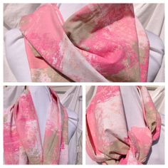 Summertime Scarf Wrap- Revamped Clothing- Upcycled Clothing-