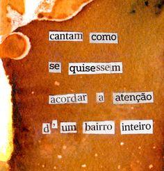 NA VIZINHANÇA (detail) - Cut Out Poetry series - Cristina Ruivo | poem by Bruno Sousa Villar |   watercolour and collage | 10 x 15 cm | June 2011