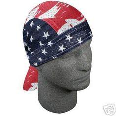 WAVY USA Flag Vented Mesh Sweatband Doo Rag Headwrap Biker Zan Headgear Durag #ZanHeadgear #BikerDurag $7.18