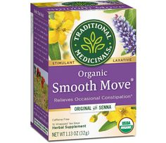 Organic Smooth Move Laxative Tea by Traditional Medicinals - Chamomile Herbal Teas, Chamomile Tea, Medical Help, Sweet Notes, Herbalism, The Cure, Smooth, Herbs