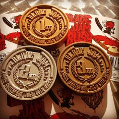 Medals 1st 2nd & 3rd place Bespoke awards Custom cnc maching