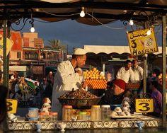 Marrakech snail merchant