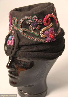 Lilly Dache Jeweled Turban, 1930s, Augusta Auctions, March 2010 NYC, Lot 304 #millinery #turban #judithm