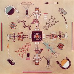 Home of the Bear and Snake: Eugene Baatsoslanii Joe, Mark Bahti - Navajo Sandpainting Art - Treasure Chest Publications, Inc. 1978.
