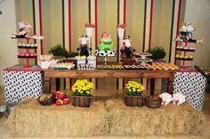 decoraçao margaridas mesa festa fazendinha - Pesquisa Google