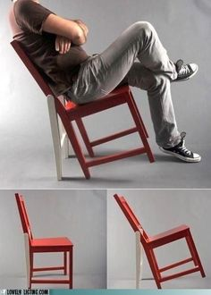 Genius. Chair with prop legs for when you want to lean back and not fall over.