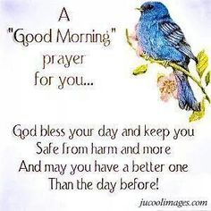 A Good Morning Prayer for you! Blessed Morning Quotes, Love Good Morning Quotes, Good Morning Prayer, Good Morning Inspirational Quotes, Morning Greetings Quotes, Morning Blessings, Good Morning Messages, Morning Prayers, Good Morning Wishes