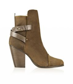10 Fresh Style Tips You Have to Try This Month via @WhoWhatWear  Rag & BoneKinsey Leather-Trimmed Waxed-Suede Ankle Boots($595)