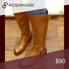 Sam Edelman Leather Boots The perfect boots for your everyday outfits. Cognac color with a low heel. Beautiful genuine leather upper. Size is 7.5, but fits an 8. I say they run 1/2 bigger. Sam Edelman Shoes Heeled Boots