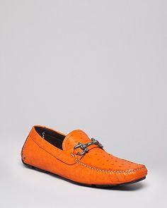 Salvatore Ferragamo Ostrich Skin Parigi 2 Driving Loafers | Bloomingdale's