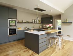 Roundhouse Urbo painted matt lacquer bespoke kitchen
