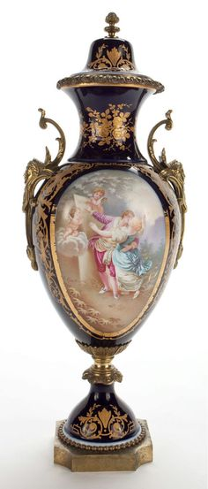 E. Grisard — Mounted covered vase, Sévres Style ,late 19th century (437x1024)