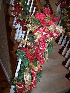 Staircase garland