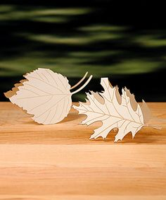 Laser Expressions Leaf Folded Place Card