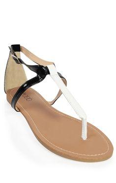 Deb Shops two tone patent #sandal