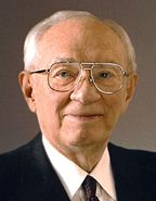 """Gordon B. Hinckley - Mormon Apostle and Prophet """"Let Not Your Heart Be Troubled"""" AKA """"Don't be a pickle sucker""""! :) Awesome talk about optimism in troubled times and uplifting one another. Very inspiring and as true now as it was when he first delivered the speech in 1974!"""