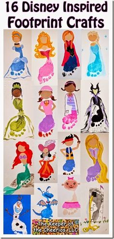 Disney Inspired Footprint Crafts for Kids
