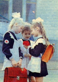 School girls from the Soviet union