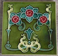 Art Nouveau Tile from Geroge Wolliscroft &Son c1906/11 tile ref 1367 volume 3 #ArtNouveau